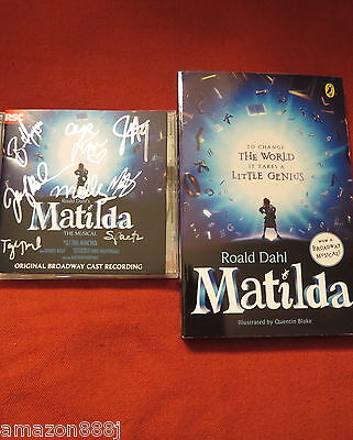Matilda, The Musical Cd Signed By Matilda& Cast & Book + Xtras!