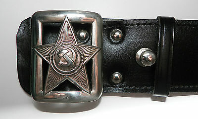 RUSSISCHE UdSSR Militär Armee KOPPEL GÜRTEL New Military Commissar Red Army Belt
