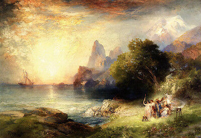 Ponce de Leon in Florida Force in landscape Large Oil painting Thomas Moran