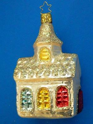 Lg Inge Glas Church Blown Glass Christmas Tree Ornament Germany