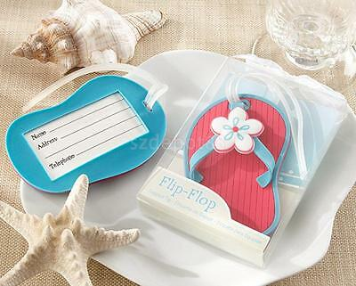 Slipper Luggage Bag Name Address Label Suitcase Baggage Tag Wedding Party Favor