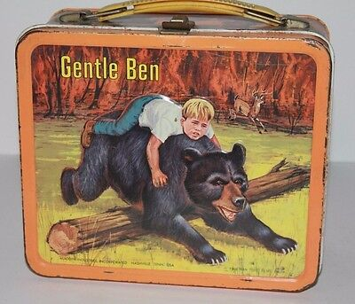 Vintage Metal Lunchbox 1968 Gentle Ben