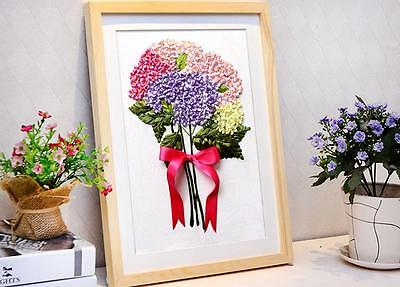 Ribbon Embroidery Kit Lucky Hydrangea Needlework Craft Kit RE3026