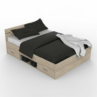 doppelbett holzbett palettenbett bett 160x200 cm. Black Bedroom Furniture Sets. Home Design Ideas