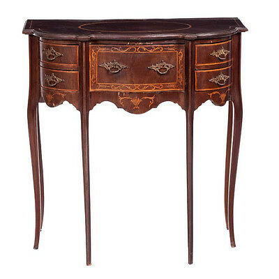 Early 20th century Continental Mahogany Marquetry Console Table