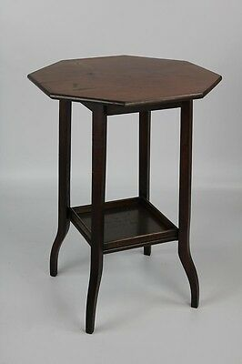 C. 1910 Edwardian Mahogany Octagonal Two-tier Occasional Table