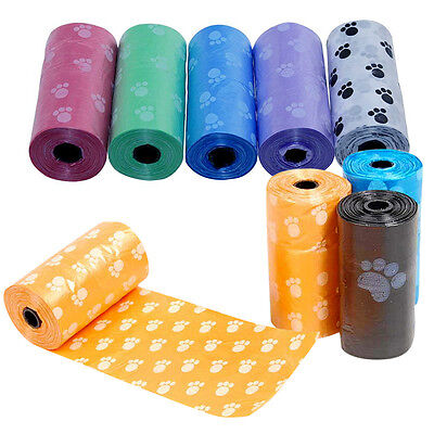 5 Rolls / 100 Pcs Pet Dog Waste Clean Poop Bags Pick Up Pooper Bags Pet Supplies