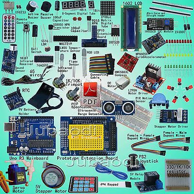 Professional Starter Kit (Arduino UNO R3 -Compatible) Compass Gyro 1602LCD DIY.
