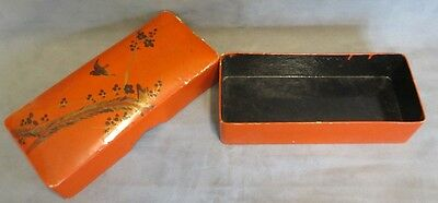Vintage Sewing, Trinket Box ,paper Mache, Hand Painted, Laquered