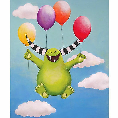 "Kids Nursery Decor Monster Art Print Kids Bedroom Poster Print 8x10"" Picture"