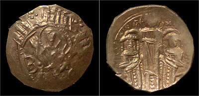 Andronicus II Palaeologus, with Michael IX AV hyperpyron