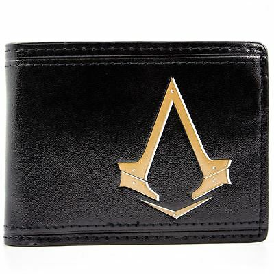 New Official Ubisoft Assassins Creed Syndicate Black Bi-Fold Wallet