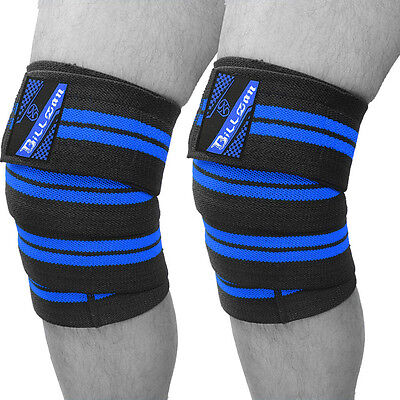 Power Lifter Weight Lifting Knee Wraps Supports Gym Pads Training Fist Straps