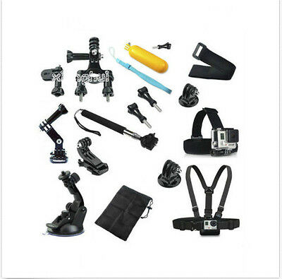 Head Chest Mount Floating Monopod Pole Accessories GoPro kit Hero 1 2 3 4 Camera