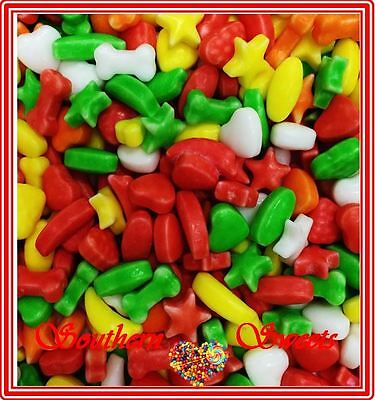 1Kg Mini Rainbow Fruits Dodos Runts Colourful Lollies In Assort Shapes 2000Ct