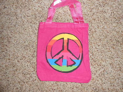 Wholesale Lot of 50 KIDS Peace Sign Small Tote Bags -ALL NEW