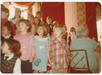 Vintage 70s PHOTO Kids Little Boys & Girls at Special Event