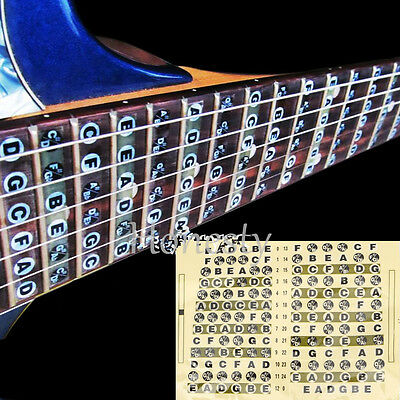 Guitar Fret Scale Musical Sticker Neck Fingerboard Fretboard Note Learn Practice