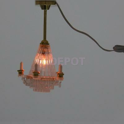 1/12 Scale Dolls House Miniature Lighting Chandelier Ceiling Lights Led Lamp