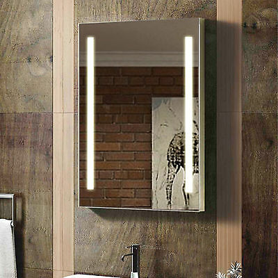 ENKI 500 x 700 Backlit Illuminated Bathroom Wall LED Mirror Vertical Horizontal