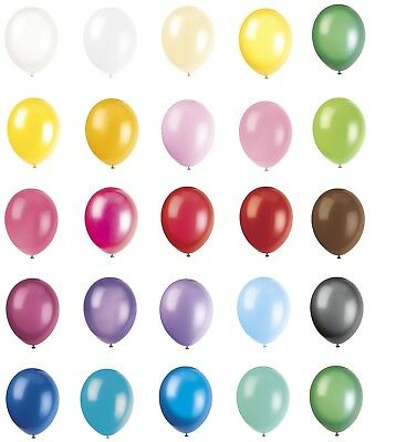 """pack of 50 12"""" Party Balloons - 29 Colours Available Suitable for Helium or Air"""