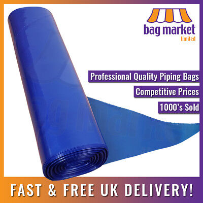 Large Disposable Blue Piping Bags! Strong! | Icing/Cake Decorating/Savoy/Bakery!