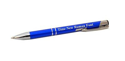1 or 1000 Promotional Metal Click Action Pen NO PLASTIC Custom Engraved