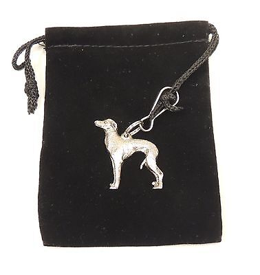 Italian Greyhound Zip Pull in Silver, for Bags and Jackets