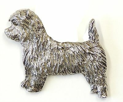 Cairn Terrier  Brooch, Silver Plated