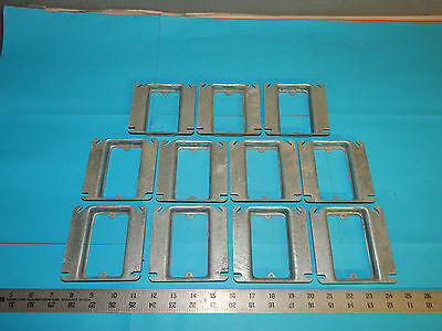 """Lot of 11 Hubbell Raco 8768 4""""inch Square Single Device Box Cover 4.5 CU. IN."""
