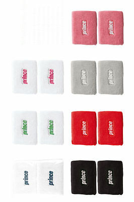 Prince Double Width Wristbands - Choice Of Colours - Free P&P