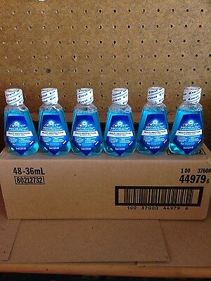 (48) Fourty-Eight Crest Pro Health Alcohol Free Mouthwash Clean Mint 1.22 FL OZ