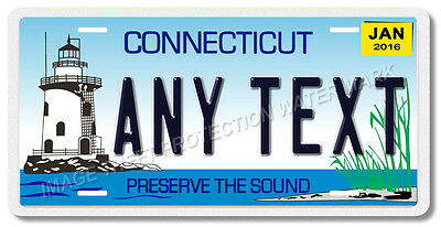 Connecticut Your Personalized Text Vanity License Plate Tag CAR TRUCK Gift New