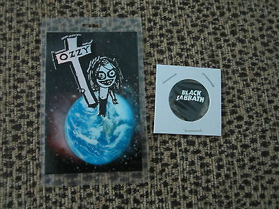 Ozzy Osbourne Laminate And Black Sabbath Guitar Pick