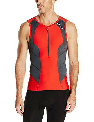 2XU Perform Tri Singlet Men Medium Red