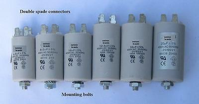 Motor (240V)capacitors 1, 1.5, 2.5, 3, 4, 5, 6, 7, 8, 10, 12.5, 14, 16, 20uF