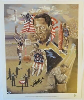 """Tribute to Meadowlark Lemon"" Signed Harlem Globetrotters 20x24 Litho PSA/DNA"