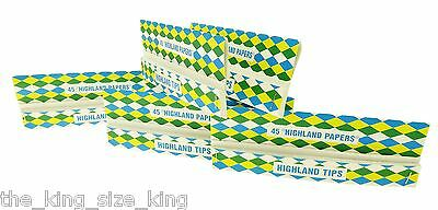Highland Double Decadence Kingsize Rolling Papers With Tips x5 Booklets