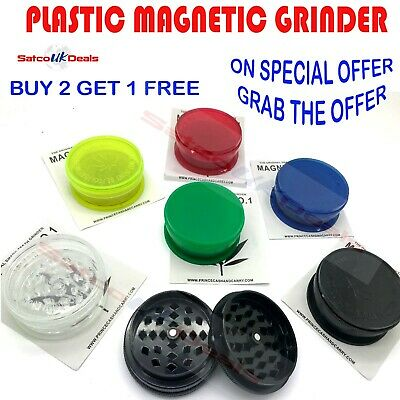 3 part 60mm Tobacco Grinder No1 Herbs Crusher Shark Teeth Magnetic Storage