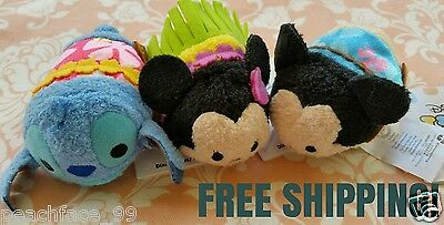 Authentic Disney Aloha Hawaii Minnie Mickey Mouse Stitch tsum tsum FREE SHIP