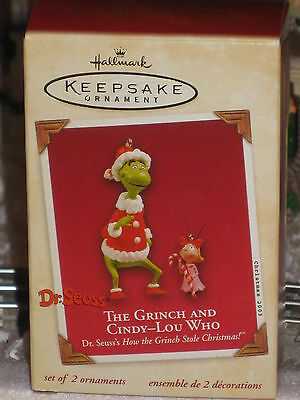 2003 Hallmark The Grinch and Cindy Lou Who  How the Grinch Stole Christmas *NEW*