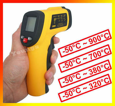 Gun Thermometer Meters Non-Contact IR Infrared GM320/380/550/700/GM900 WFEU