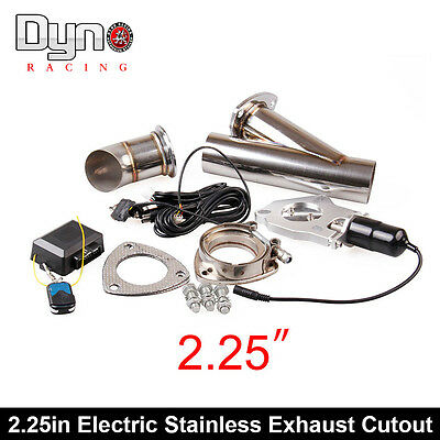 """Dyno 2.25"""" Electric Stainless Exhaust Cutout Dump Valve switch with Remote"""