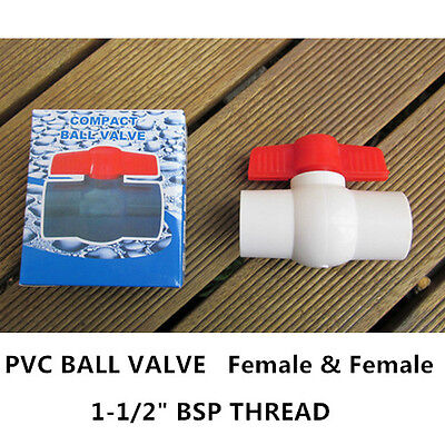 "PVC Ball Valve - 1-1/2"" (40mm)  BSP Thread End - F/F"
