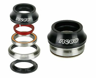 """NECO Bike CNC Full Integrated Headset 1-1/8"""" with 15mm Top 30mm Bottom Bearing"""