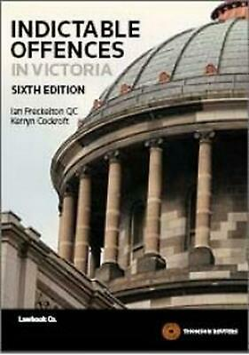 Indictable Offences in Victoria by Ian Freckelton Paperback Book Free Shipping!