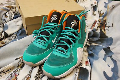 more photos acab6 3f0a7 Ds Nike Air Penny V 5 Green White Miami Dolphins 537331-300 Sz 10.5