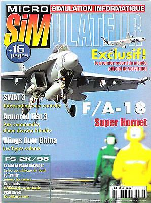 Micro Simulateur -72- F/A-18, SWAT 3, Armored Fist 3,...