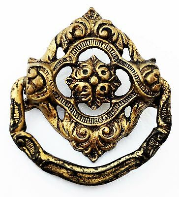 Brass Ornate Antique Hardware Drawer Pull Country French Provincial Cabinet Knob