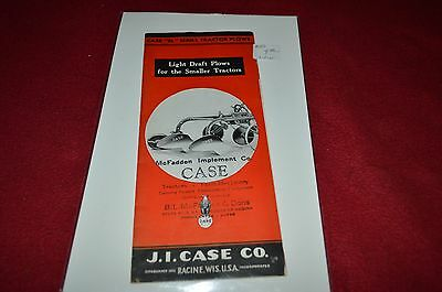 Case BL Series Tractor Plow Dealer's Brochure YABE7